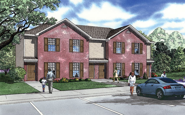 House plans home plans and floor plans from ultimate plans for Cost to build a fourplex