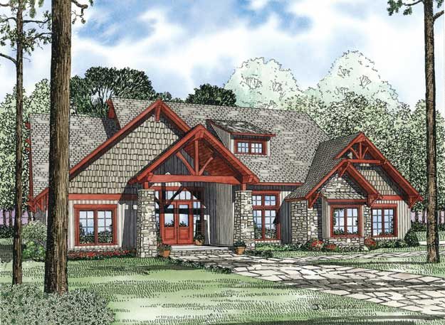 House plans home plans and floor plans from ultimate plans for Rustic home plans with cost to build