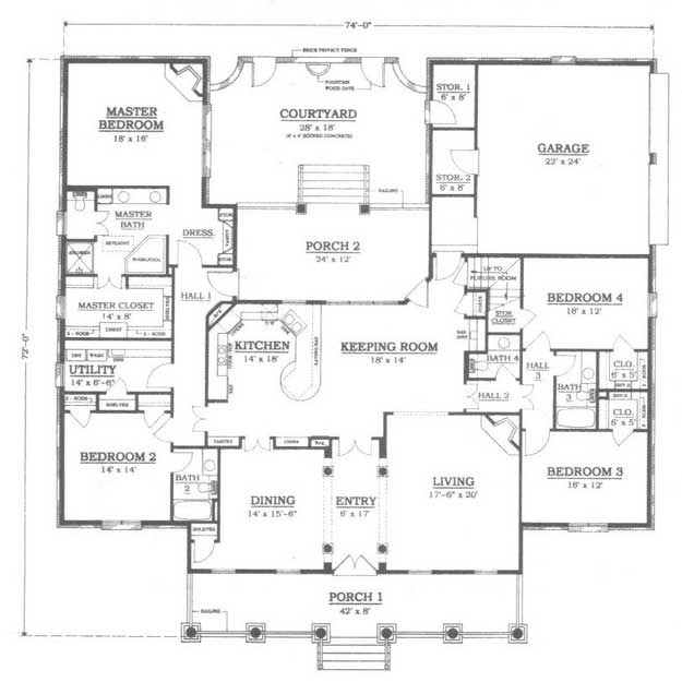exceptional ultimate house plans #2: MAIN LEVEL FLOOR PLAN