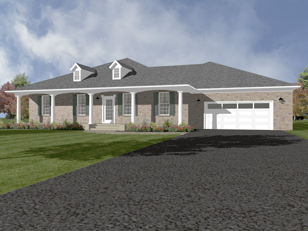 House plans home plans and floor plans from ultimate plans for Hip roof ranch house plans