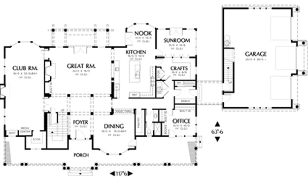 Farmhouse House Plan #441030 | Ultimate Home Plans