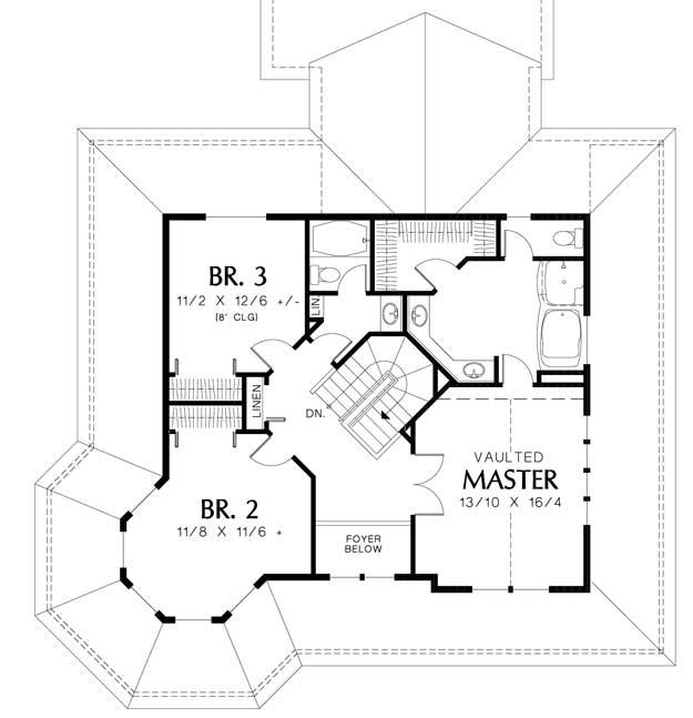 Turret House Plans - Architectural Designs