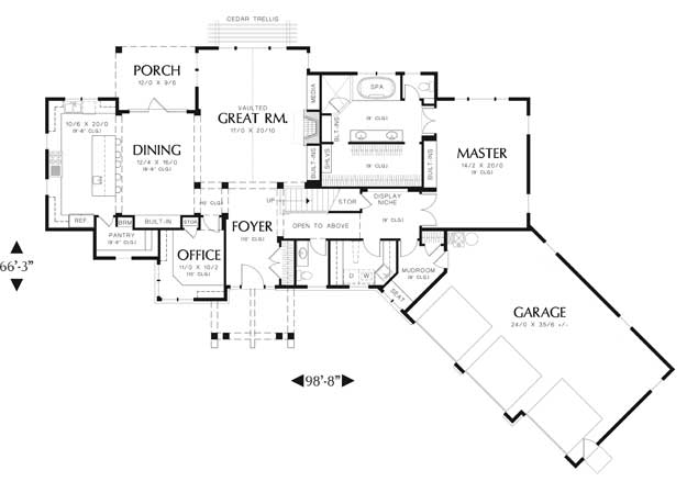 Angled House Plans Floor Plan Wood Floors