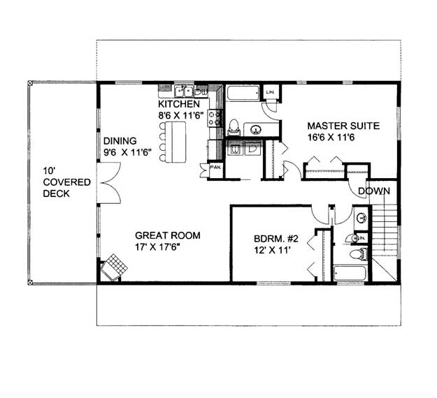 With 2 Bedrooms Above Garage : House plans home and floor from ultimate
