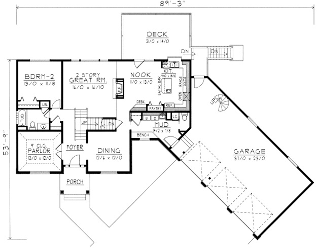 House plans t shaped home design and style - T shaped house plans ...