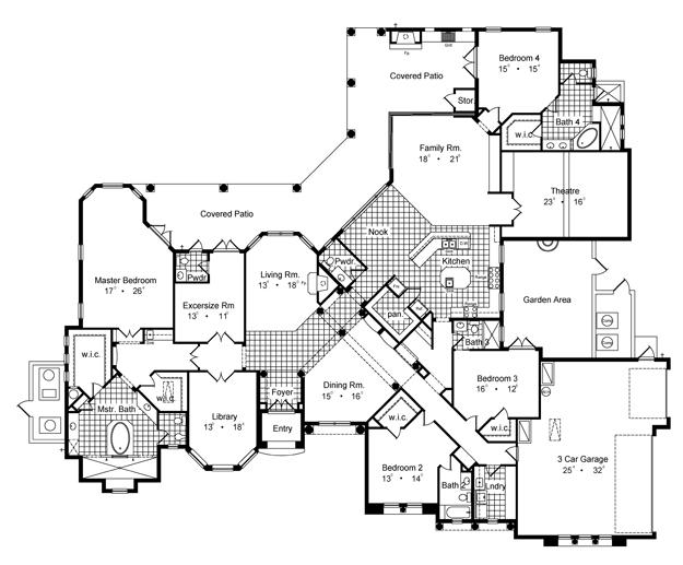 spanish mediterranean house plan 661289 ultimate home plans Floor Construction Diagram additional details