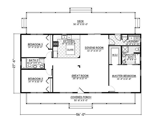 30 x 36 home plans for 28x36 cabin plans