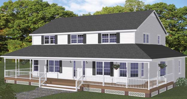 Excellent One Story Farm House Plans With
