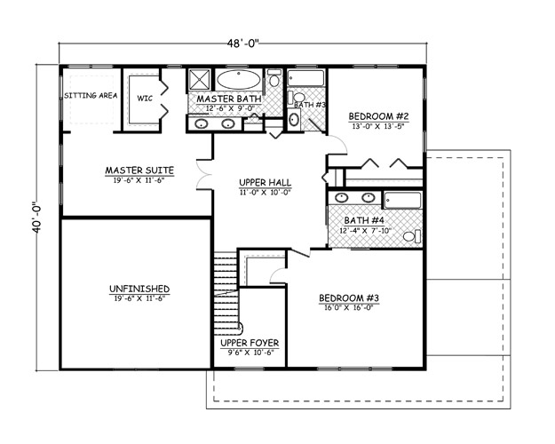 Floor Plans 32 X 40 on Donald Gardner House Plans