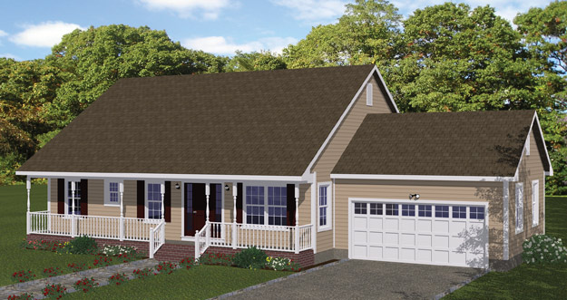 New house plan hdc 2218c 1 is an easy to build affordable for Easy to build small house plans