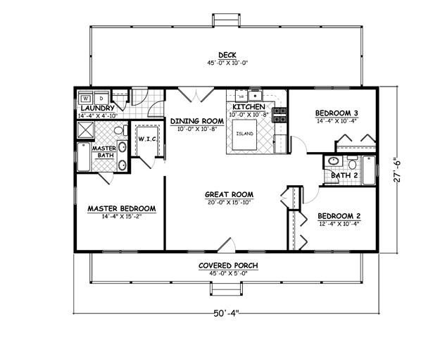 House plans home plans and floor plans from ultimate plans - Simple house plans bedrooms ...