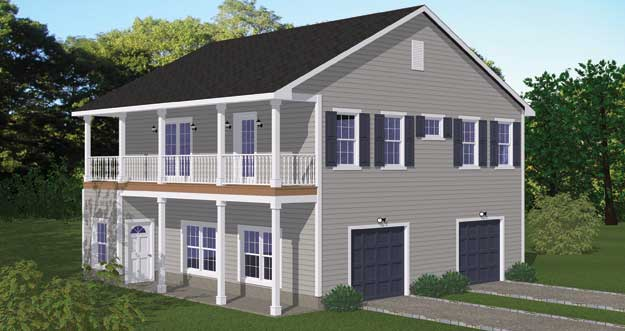 House plans home plans and floor plans from ultimate plans for Two bedroom garage apartment plans