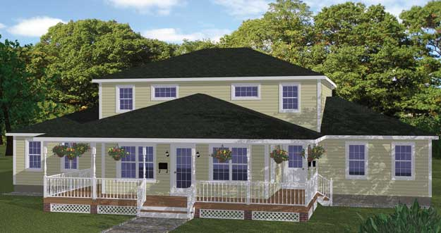 House plans home plans and floor plans from ultimate plans for Mother daughter house design